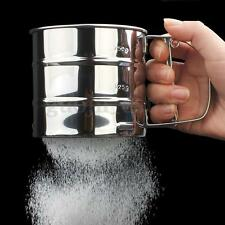 Stainless Steel Mechanical Baking Icing Flour Sugar Sifter Shaker Sieve Tool