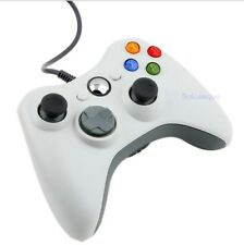 Wired Joypad Gamepad Controller USB For Xbox 360 Microsoft PC Windows 7 White HQ