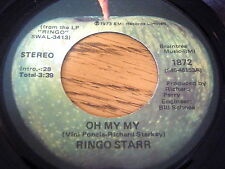 "RINGO STARR - OH MY MY / STEP LIGHTLY    7"" VINYL"