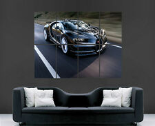 BUGATTI CAR POSTER SUPERCAR SPEED FAST LUXURY SPORT ART HUGE LARGE IMAGE PRINT