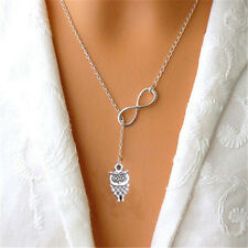 1Pc Stylish Owl Sliver Plated Pendants Necklaces Women Clavicle Chain Jewelry