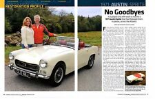 1971 AUSTIN-HEALEY SPRITE ~ GREAT 6-PAGE RESTORATION ARTICLE / AD