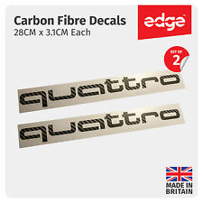 2 X Audi Quattro CARBON FIBRE TEXTURE VINYL Car Decals Stickers
