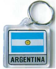 ARGENTINA FLAG KEY CHAIN WITH RING  - NEW