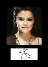 SELENA GOMEZ #4 Signed Photo Print A5 Mounted Photo Print - FREE DELIVERY