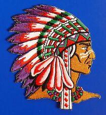 Aufnäher Patch Indianer *1*, Cowboy Biker, Motorrad Jacke, Indian Western Native