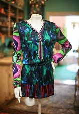 CUSTO BARCELONA! MOD HIPPIE SYLE TUNIC/MINI DRESS! BOUGHT CUSTO IN SPAIN! SZ L