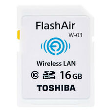 Toshiba 16GB FlashAir WiFi SD Memory Card For Digital Camera