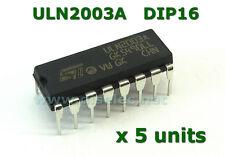 ULN2003A ( x 5 pcs) Array Transistor Darlington DIP-16 - Nuevos de fábrica