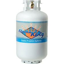 30 lb Vertical Cylinder Refillable Propane Steel LPG Tank, Flame King