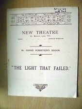 1903 New Theatre Programme- THE LIGHT THAT FAILED by Rudyard Kipling's Novel