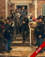 LAST MOMENTS OF ABOLITIONIST JOHN BROWN PAINTING ART REAL CANVAS GICLEEPRINT