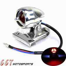 Polish Aluminum Motorcycle License Plate Lamps TaillIght With Mounting Bracket