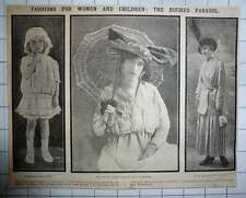 1915 Ruched Parasol Now Popular Fashion Little Girls Derry And Toms Dress