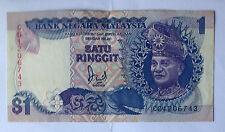 Malaysia Jaffar 6th sr. banknote $1 prefix CG1206743 no silver thread very nice