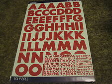 Scrapbooking Stickers Sticko Numbers Alphabet Large 3 Sheets New Red