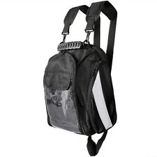 Black Motorcycle Magnetic Tank Bag Gear Back Pack Cruiser Sport Bike Dual Sport