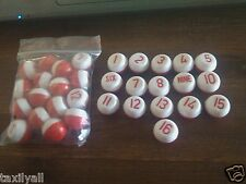 TWO SETS OF PILLS -  bargain 2 LOTS OF NEW PLASTIC KELLY POOL TABLE MARBLES 1-16