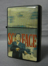 SCARFACE TONY MONTANA SAY HELLO TO MY LITTLE FRIEND BLACK REFILLABLE OIL LIGHTER