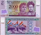 PARAGUAY 2000 GUARANIE 2008 UNC MONEY BANK NOTE POLYMER