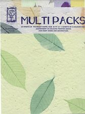 "105gsm Handmade Mulberry Paper Multipack - 20 Sheets A4 (8.5"" x 11"") Craft/Art"