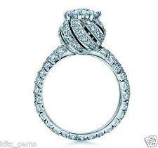 2.99 ct D/vs1 Round Solitaire ETERNITY Engagement Ring Real 14K white Gold 7Size