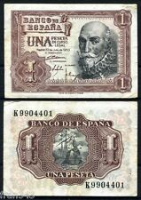 ESPAÑA SPAIN 1 Peseta 1953 Marques de Santa Cruz Pick 144 BC  / F