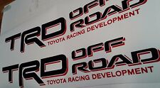 TOYOTA TRD Off Road 4x4, decal Sticker tacoma tundra (2 set)