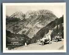 Suisse, Jaunpass, Vue sur les Gastlosen  Vintage silver print. Switzerland. Schw