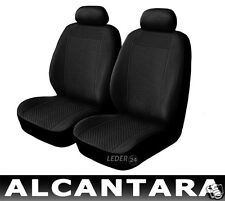 Seat covers Leather 2x Alcantara black suitable for CITROEN SAXO