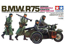 Tamiya 35016 WWII German BMW R75 Motorcycle with Sidecar 1/35 Scale Model Kit