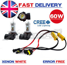 H8 60W CREE LED Foglight Bulbs Xenon White Canbus Error Free BMW 7 Series F01