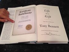 TONY BENNETT signed first edition Life Is A Gift autograph book inspirational