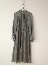Silk Crepe Vintage Christian Dior Boutique Long Sleeve Dress size Small vgc