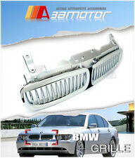 CHROME SILVER FRONT HOOD GRILLE for 2002-2005 BMW E65 E66 PRE-LCI SEDAN 7-SERIES