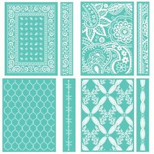 Cricut Cuttlebug Embossing Folder Lot Chicken Wire, Paisley, Rose, Bandana  NIP