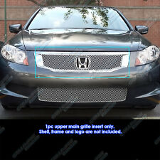 08-2010 Honda Accord Sedan Stainless Steel Chrome X Mesh Grille Bolton Insert