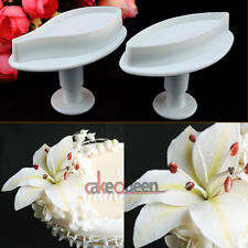 Cake Fondant Cookie Decorating Mold Sugarcraft Cutter Plunger Lily Flower Tool
