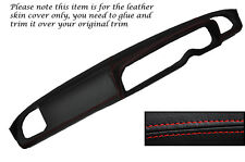RED STITCHING DASH DASHBOARD LEATHER SKIN COVER FITS FIAT 124BC COUPE 66-76