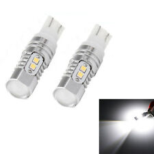 2X Car T10 50W 6000k Super White Brake Reverse LED Lights Projector Lens Bulbs