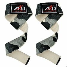 Power Hand Bar Straps Weight Lifting Cotton Strap Strength Training Workout CAMO