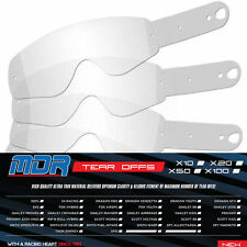 MDR PACK OF 100 MOTOCROSS TEAR OFFS FOR OAKLEY PROVEN GOGGLES