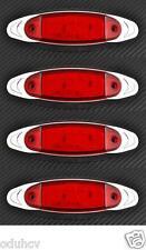 4x 12 LED rosso 24V LATO CROMO EDGE LUCI DI POSIZIONE Camion Furgone