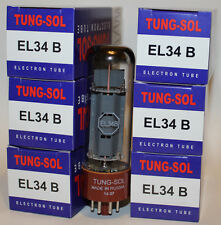 Matched Sextet (6 tubes) of Tung Sol EL34B / EL34 tubes, Brand New Reissue !
