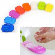 80PCS Travel Portable Anti-Bacterial Clean Paper Soap Popularity Small Case