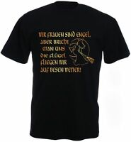 WIR FRAUEN SIND ENGEL ABER...HEXE FLÜGEL Fun Shirt-S M L XL XXL 3XL 4XL 5XL