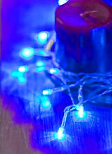 30 Bright Electric Blue LED AA Battery Christmas Fairy Lights Table Decoration