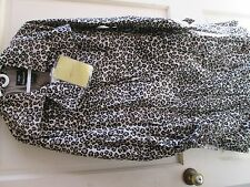 womens nwt qvc lepeord animal print trench coat jacket dennis brasso L large