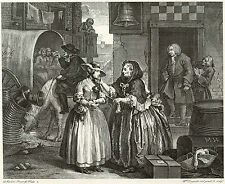 Hogarth Print Reproductions: A Harlot's Progress, Plate I: Fine Art Print