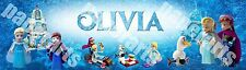 Personalized LEGO Disney Frozen Elsa's Sparkling Ice Castle Name Banner Poster